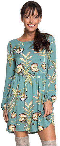 Roxy Dámské šaty Highland Escape Trellis Bird Flower ERJWD03238-BKW6 (Velikost XS)