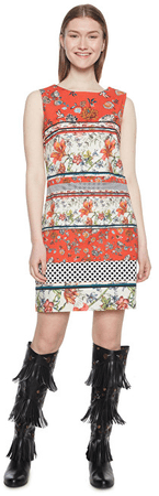 Desigual Damska sukienka Vest Karin Virtual Pink 18WWVWAA 3145 (rozmiar 36)