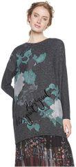 Desigual Dámske tričko Ts Kuni Gris Vigor Oscuro 18WWTK87 2043