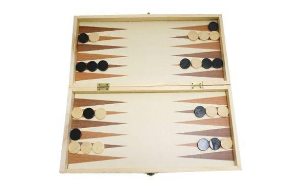 Unikatoy leseni šah 3v1 25165, 34x34 cm