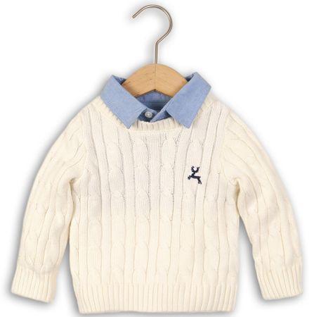 Minoti Chlapčenský sveter s košeľou 98/104 béžová