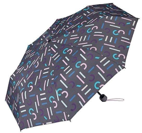 Esprit Dámský skládací mechanický deštník Super Mini With Shopper Grey