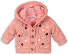 Minoti Sweter dziewczęcy w kolorowe kropki