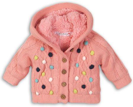 Minoti Sweter dziewczęcy w kolorowe kropki 80 - 86 różowy
