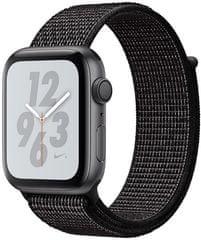 Apple Watch Nike+ Series 4, 40mm, pouzdro z vesmírně šedého hliníku/černý provlékací řemínek
