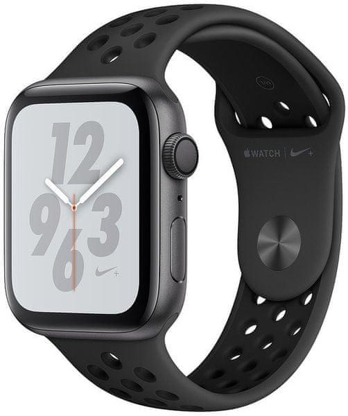 Apple Watch Nike+ Series 4, 40mm, Pouzdro Z Vesmírně Šedého Hliníku/Černý Řemínek