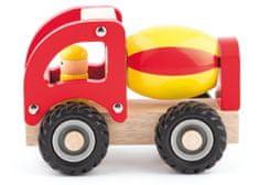 Woody drewniane autko - betoniarka