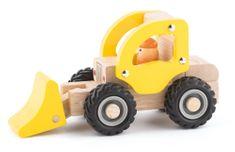 Woody drewniane autko - koparka