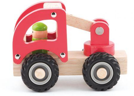 Woody drewniane autko - wóz strażacki