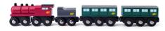 Woody Gőzmozdony szénnel és vagonokkal