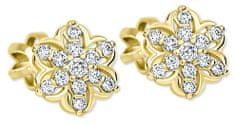 Brilio Zlaté hvězdičkové náušnice s krystalem 239 001 00940 - 1,25 g zlato žluté 585/1000