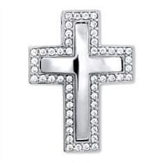 Brilio Nádherný přívěsek z bílého zlata Křížek 249 001 00242 07 - 3,65 g zlato bílé 585/1000