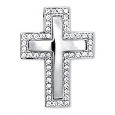 Brilio Nádherný přívěsek z bílého zlata Křížek 249 001 00242 07 - 3,70 g zlato bílé 585/1000
