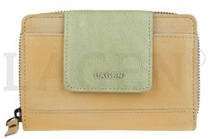 Lagen Női bőr pénztárca 931 Yellow/Green
