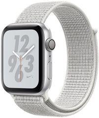 Apple Watch Nike+ Series 4, 40mm, pouzdro ze stříbrného hliníku/bílý provlékací řemínek