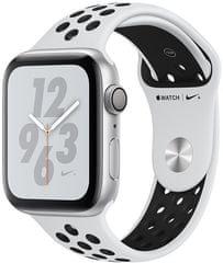 Apple Watch Nike+ Series 4, 40mm, pouzdro ze stříbrného hliníku/platinově-černý řemínek