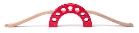 Woody most - czerwony łuk