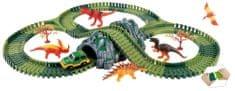 Alltoys Variabilní dráha s dinosaury a tunelem 144 dílů