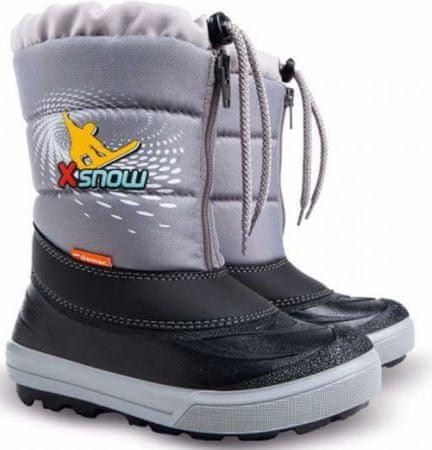 Demar Chlapčenské snehule Kenny 2 X Snow 30-31 šedé
