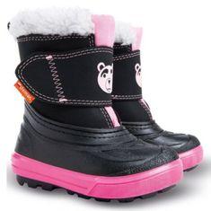 Demar Dívčí sněhule Bear 24-25 černo-růžové