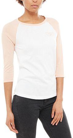 Vans Dámske tričko Full Patch Raglan White/Rose Cloud VA31PLRDO (Veľkosť S)
