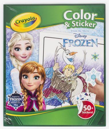 Crayola Maľovanky Ľadové kráľovstvo so samolepkami