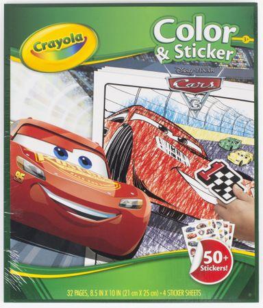 Crayola Omalovánky Auta 3 se samolepkami