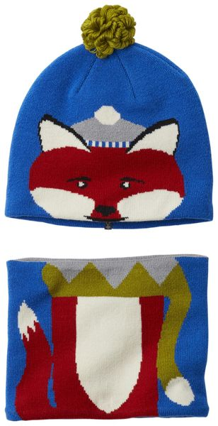 Columbia Snow More Beanie and Gaiter Set Super Blue Fox