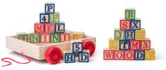 Woody wózek z klockami/stemplami ABC