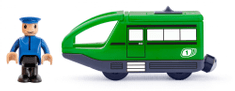 Woody nowoczesna elektryczna lokomotywa - zielona