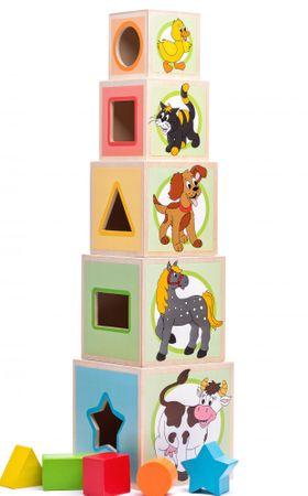 Woody Veža z 5-tich kociek Zvieratká