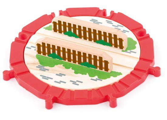 Woody vrtljiva plošča, les in plastika