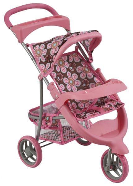 Bino Kočárek pro panenky růžová