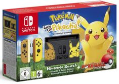 Nintendo Switch + Pokémon: Let's Go Pikachu + Poké Ball