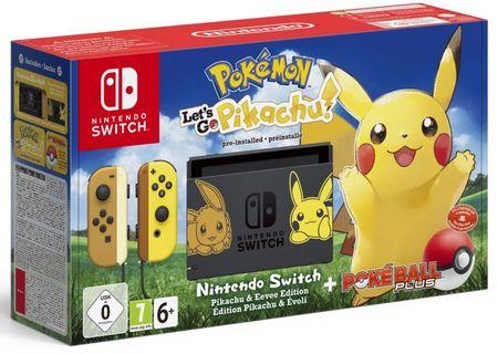 Nintendo Switch + Pokémon: Let's Go Pikachu + Poké Ball