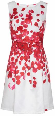 Smashed Lemon Dámské krátké šaty Red 18073/04 (Velikost L)