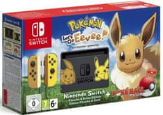 Nintendo Switch + Pokémon: Let's Go Eevee + Poké Ball