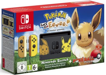 Nintendo Switch + Pokémon: Let's Go Eevee + Poké Ball