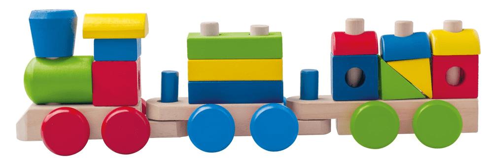 Woody Dřevěný skládací nákladní vlak