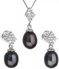 Evolution Group Luxusná strieborná súprava s pravými tahiti perlami Pavona 29018.3 striebro 925/1000