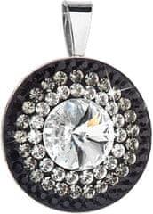 Evolution Group Překrásný stříbrný přívěsek 34207.3 crystal+jet stříbro 925/1000