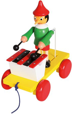 BINO Pinochio s xylofónom ťahací