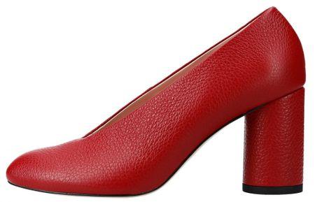 L37 ženski čevlji s peto Luna, 37, rdeči
