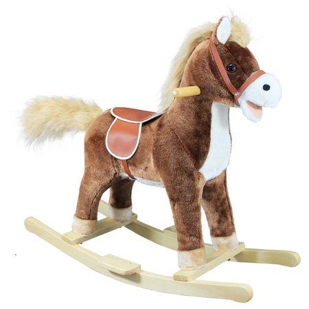 Bino Houpací kůň plyš hnědý střední