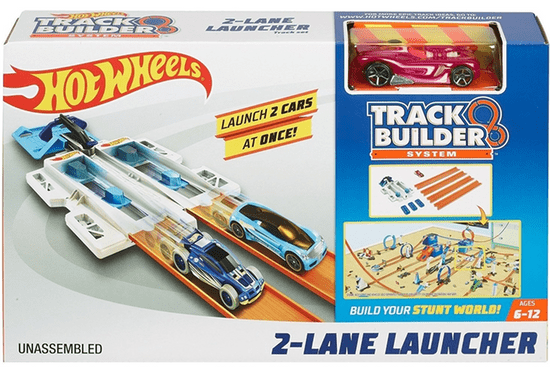 Hot Wheels dirkalna steza Track Builder 2-Lane Launcher