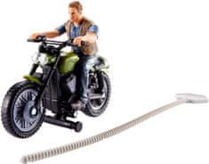 Mattel Jurský svět lovci dinosaurů - Owen a motorka