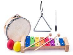 Woody zestaw muzyczny - tamburyno/bębenek