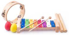Woody Muzikálny set - tamburína/drievka