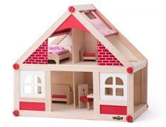 Woody dom s pohištvom ter možem in ženo