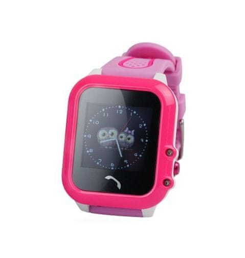 XBlitz Interaktivní dětské chytré hodinky s GPS lokátorem, vodotěsné, Find Me, růžová barva